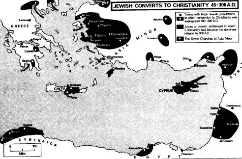 Map of Jewish Christians in early Europe