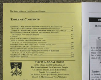 Thy Kingdom Come contents sample 2